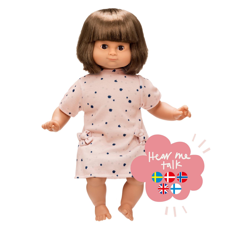 Skrållan Lillian talking doll, Dark 36 cm