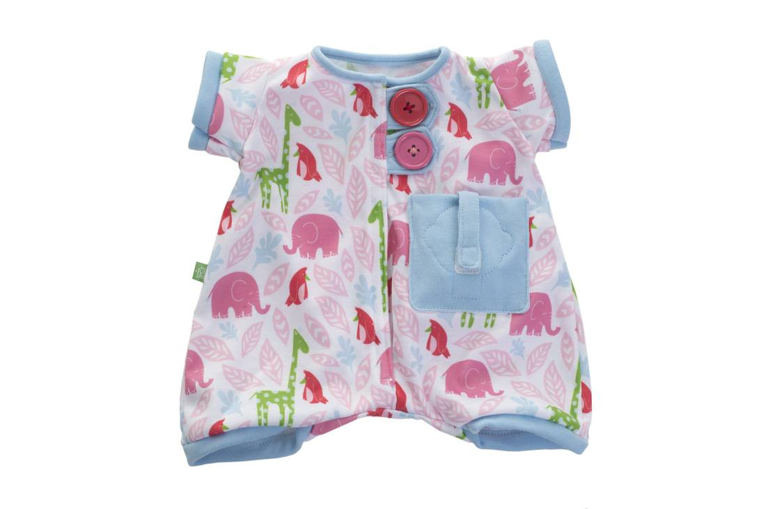 Rubens Barn Pocket Friends Pink Pajamas (120102)
