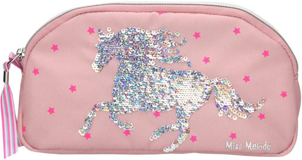 Miss Melody Pencil Case with Sequins Pink (0010285)