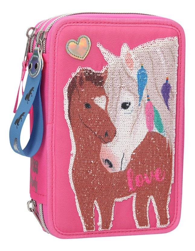 Miss Melody Trippel Pencil Case w/ Sequins Pink (0410529)