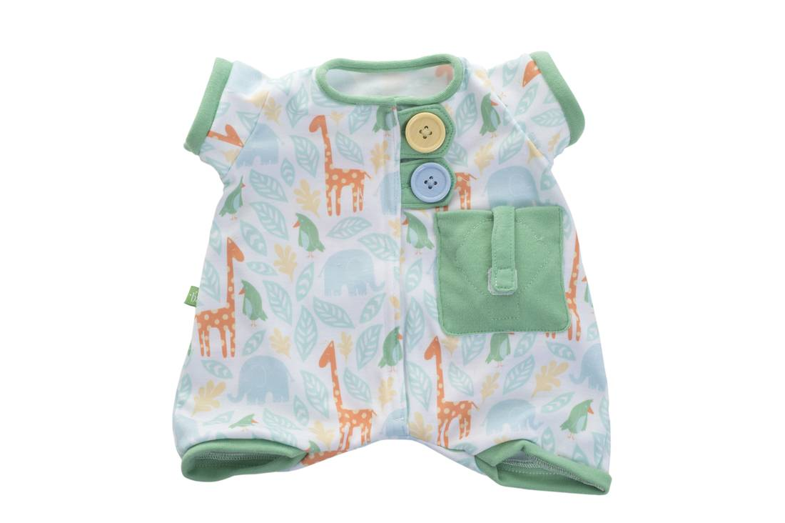 Rubens Barn Pocket Friends Green Pajamas (120101)