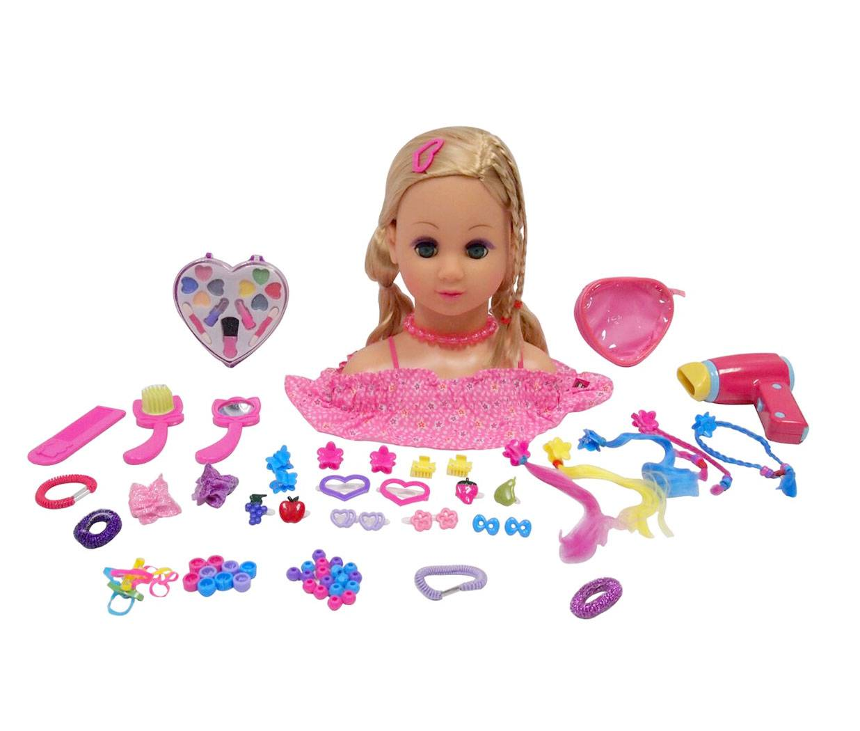 Happy Friend Fanny Make Up Dollhead Blonde (504402)
