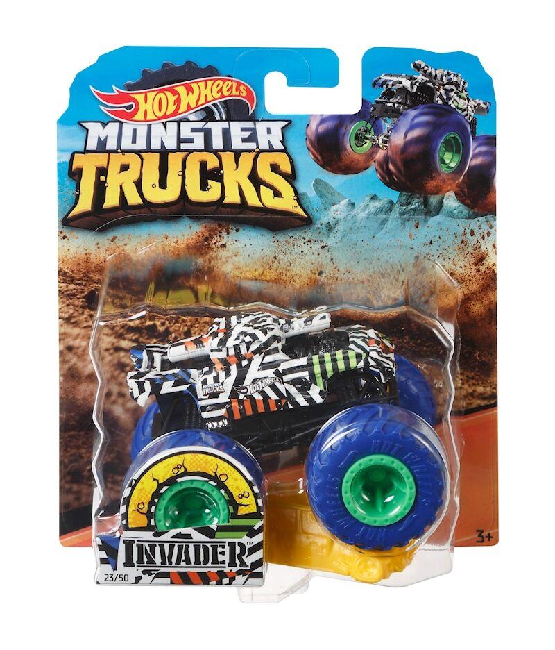 Hot Wheels Monster Trucks 1:64 Invader (GBT32)