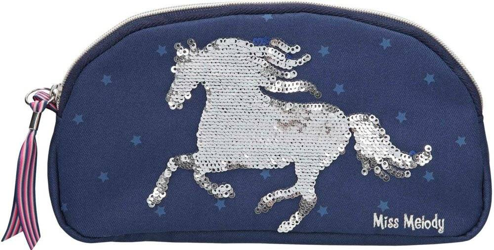Miss Melody Pencil Case with Sequins Blue (0010276)