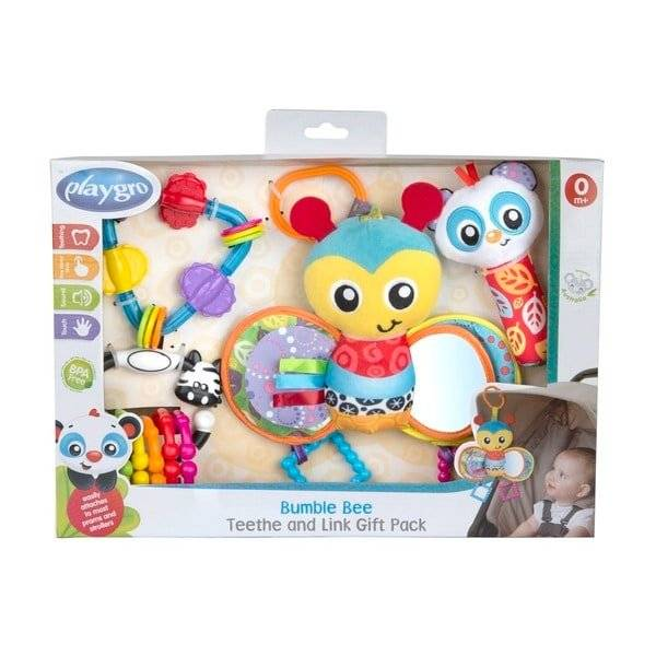 Playgro Bumble Bee Teether & Link Giftpack (187221)