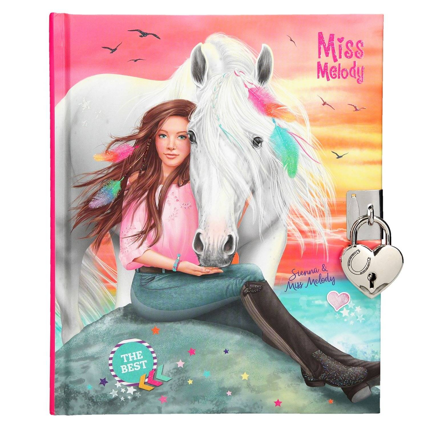 Miss Melody Diary w/lock Girl with Horse (410245)