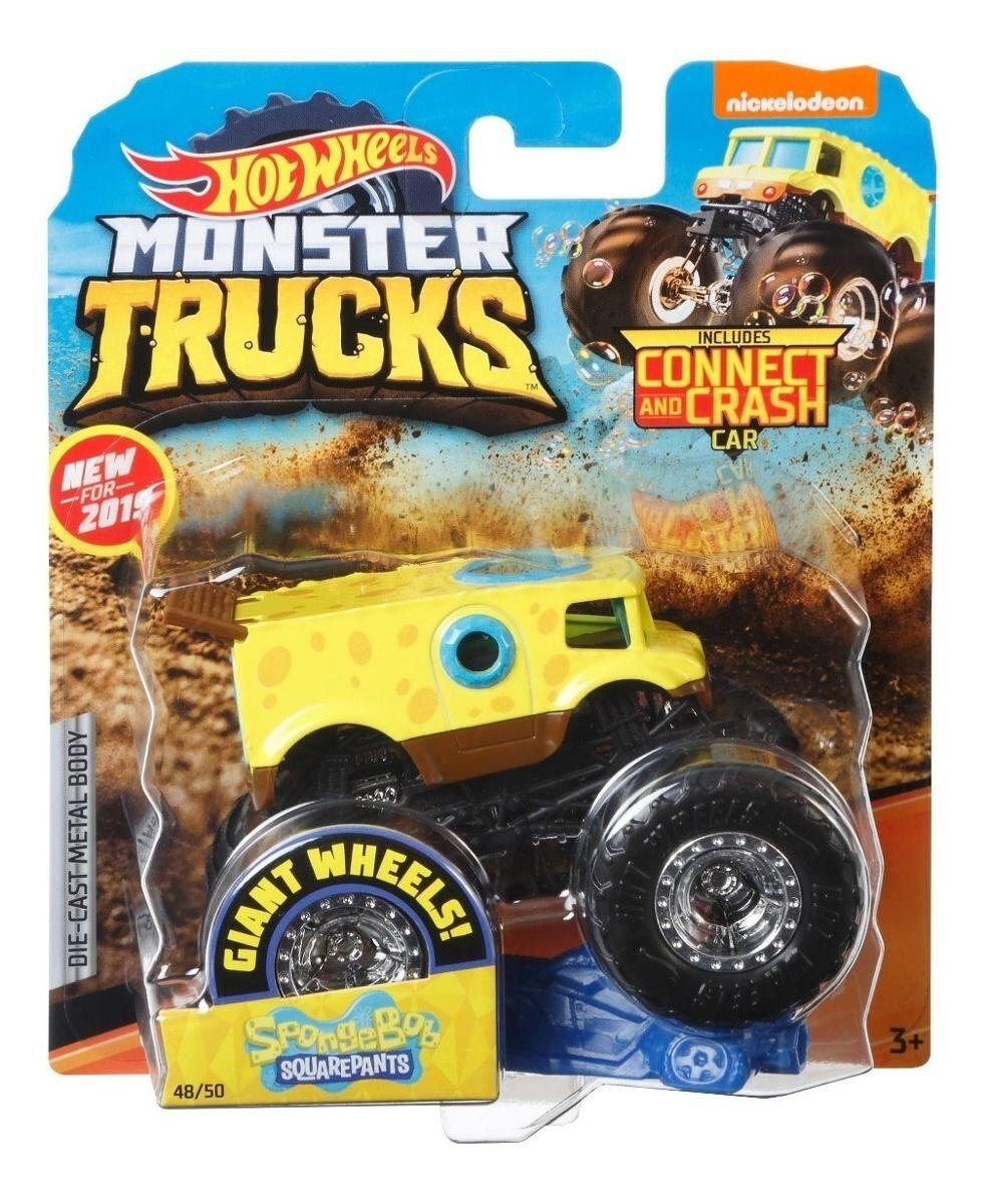 Hot Wheels Monster Trucks 1:64 Sponge Bob (GBT38)