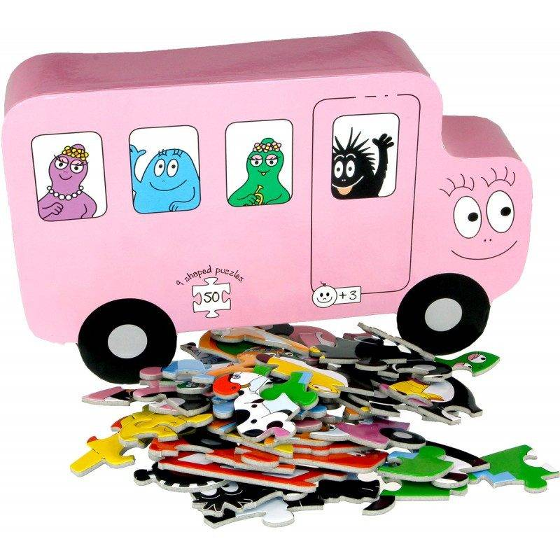 Barbo Toys Puzzle Barbapapa Transport (9 shaped puzzles) (2210)