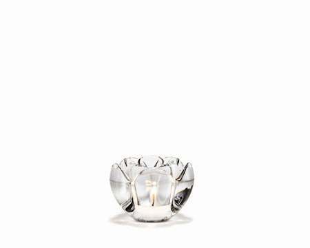 Holmegaard Lotus Kynttilälyhty, korkeus 7 cm, Läpinäkyvä