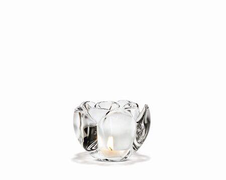Holmegaard Lotus Kynttilälyhty, Läpinäkyvä, k:9 cm