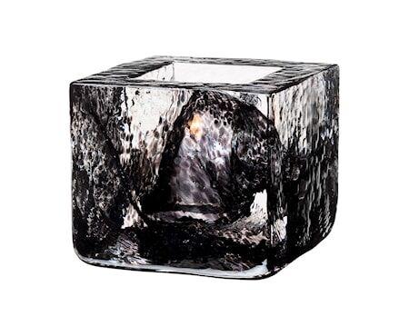 Kosta Boda Brick Kynttilälyhty musta Ø 8,5 cm
