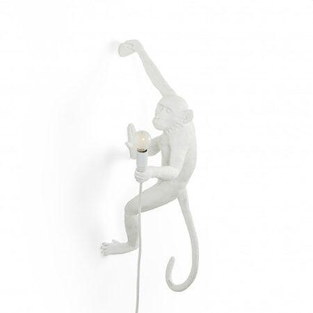 SELETTI Monkey Valaisin Hanging Oikea - Valkoinen