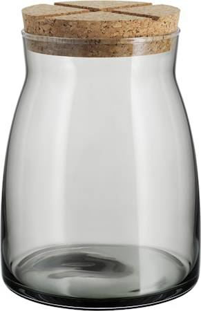 Kosta Boda Purkki korkkikannella 1,7 litraa Harmaa