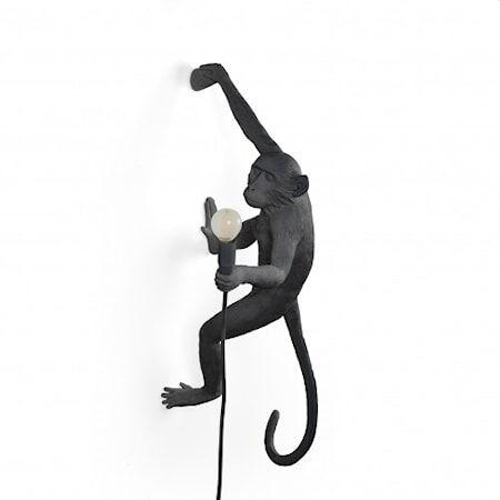 SELETTI Monkey Valaisin Outdoor Hanging Oikea Versio - Musta