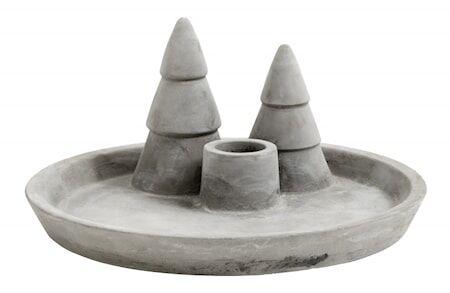 Nordal Tarjotin/Kynttelikkö X-mas Cement