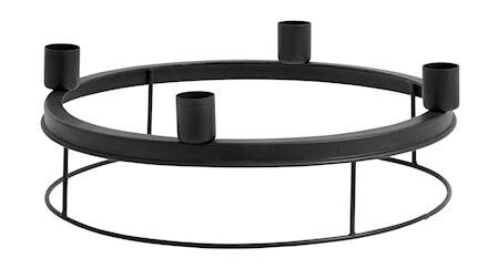 Image of Nordal pyöreä Kynttilänjalka raudasta Ø 26 cm - Musta