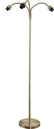 PR Home Cia Kolmijalkainen Lattiavalaisimen jalka Antiikkinen messinki 160 cm