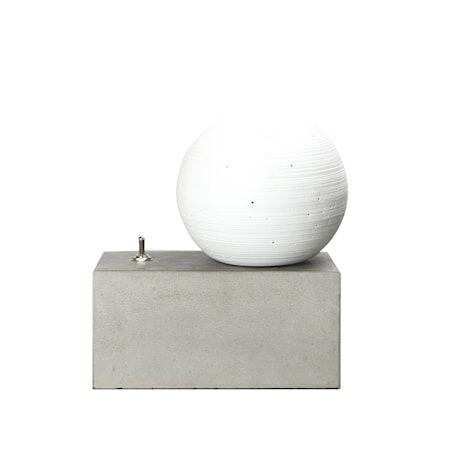 By On Pöytävalaisin Concrete valkoinen/harmaa