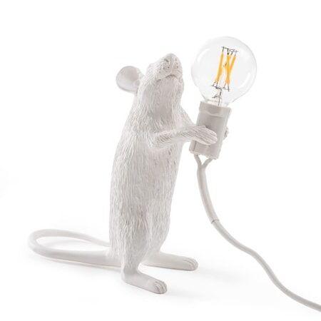SELETTI Mouse Valaisin Standing - Valkoinen