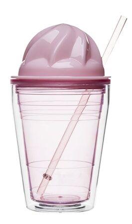 Sagaform Sweet milkshake pillillä, Vaaleanpunainen