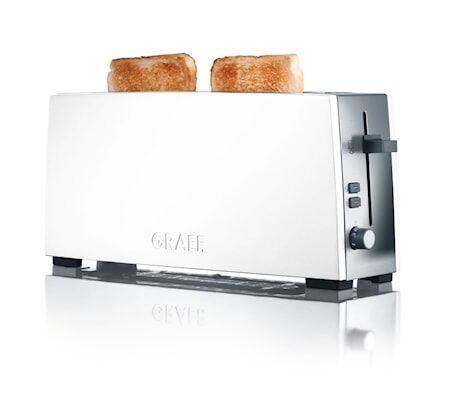 Graef TO91 Leivänpaahdin 2 viipaletta kapea/pitkä malli, valkoinen