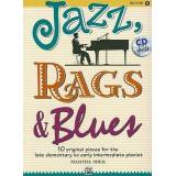 Jazz, Rags & Blues, Book 1 by Martha Mier