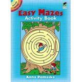 Easy Mazes Activity Book by Anna Pomaska