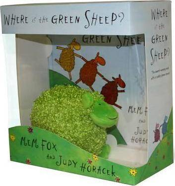 Where is the Green Sheep? Hardback book and plush by Marianne Elliott