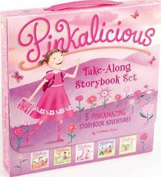 The Pinkalicious Take-Along Storybook Set by Victoria Kann