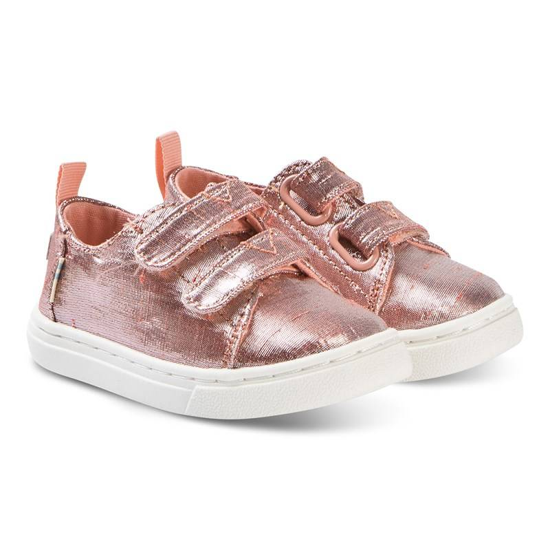 Toms Rose Gold Lenny Velcro Trainerss 24.5 (UK 7)