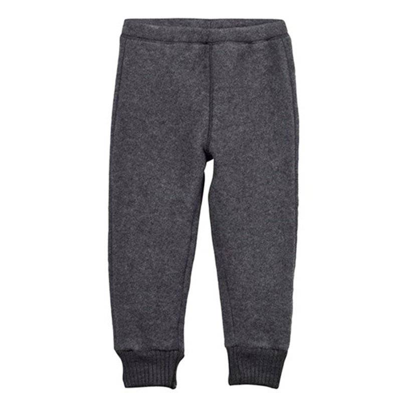 Image of Mikk-Line Wool Pants Melange Grey 98 cm (2-3 v)