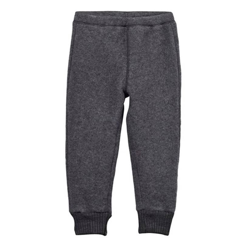 Image of Mikk-Line Wool Pants Melange Grey 80 cm (9-12 kk)