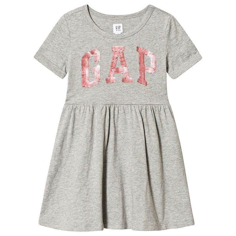 Image of Gap Gap Flp Dress Grey Heather XS (4-5 v)