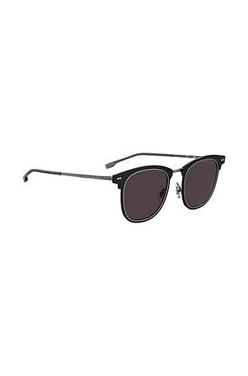 Boss Black sunglasses with double-groove rim  - Men - Black - Size: pce.