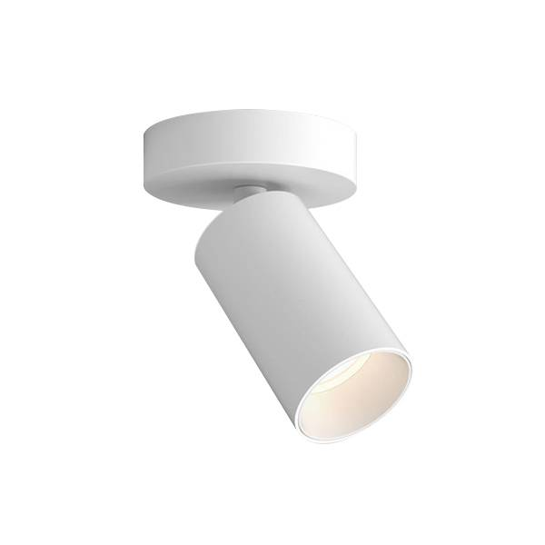 Astro Can 50 Single Ceiling Light/Wall Light LED Matt White