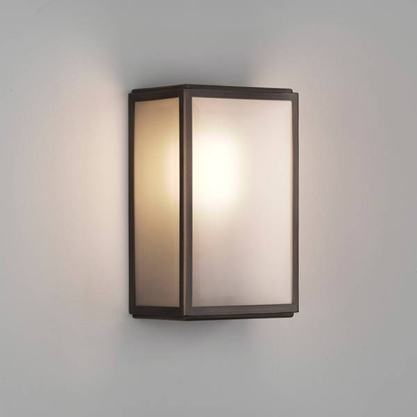 Astro Homefield Frosted Bathroom Light LED Bronze