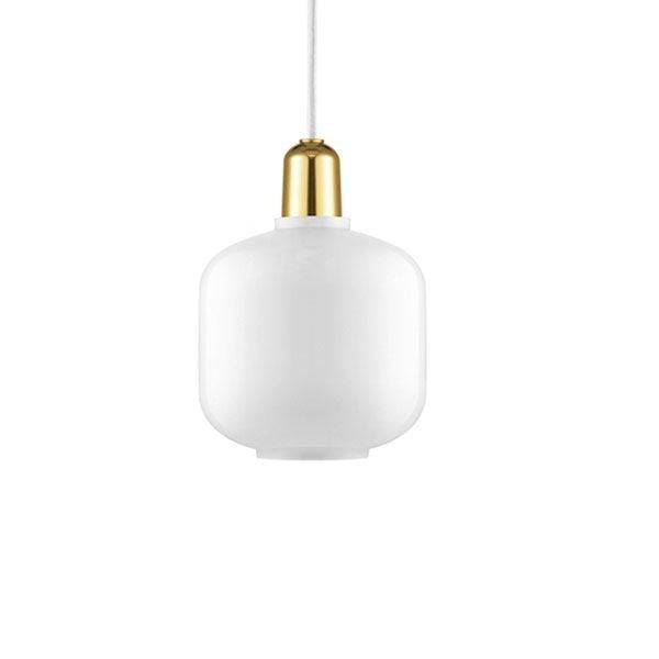 Normann Copenhagen Pendant Small White/Brass