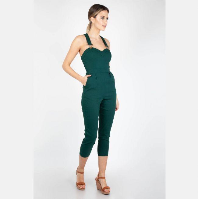 VOODOO VIXEN HAALARIT - Connie Fitted Capri Overalls Green