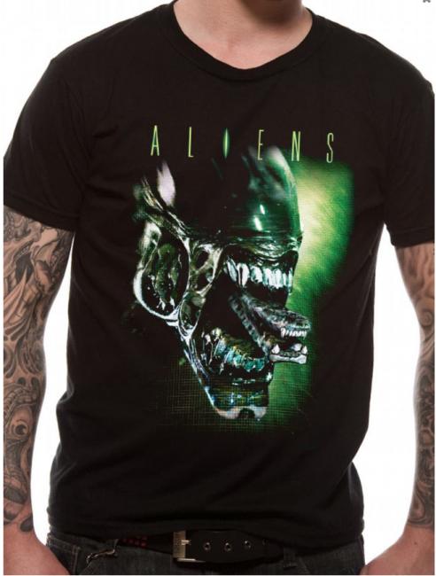 T-PAITA - ALIENS - ALIEN HEAD  -painatus valitsemaasi paitaan