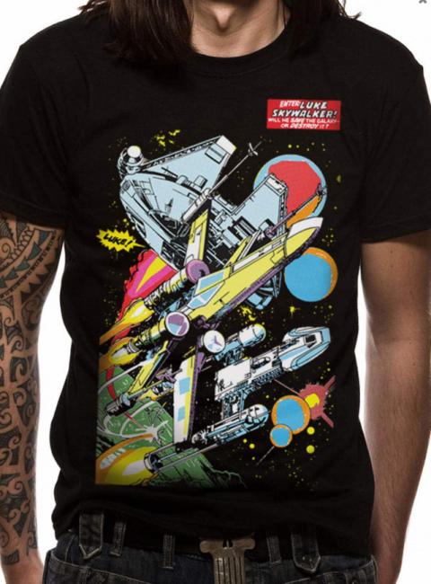 T-PAITA - STAR WARS - COMIC SHIPS  -painatus valitsemaasi paitaan
