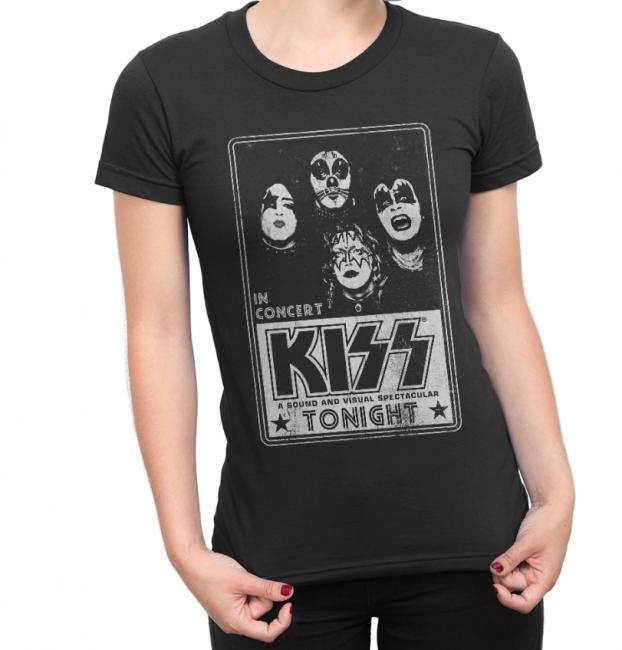 Kiss NAISTEN T-PAITA - CONCERT POSTER - KISS (LF8481)