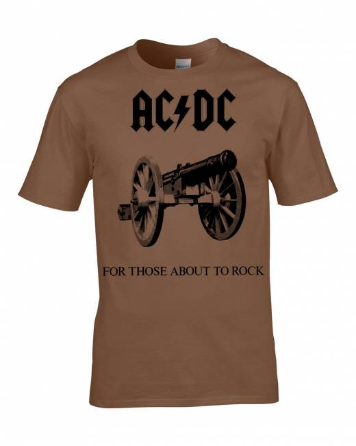 T-PAITA - FOR THOSE ABOUT TO ROCK (RUSKEA) - AC/DC (LF8160)