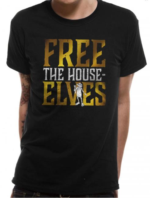 T-PAITA - HARRY POTTER - FREE THE HOUSE ELVES  -painatus valitsemaasi paitaan