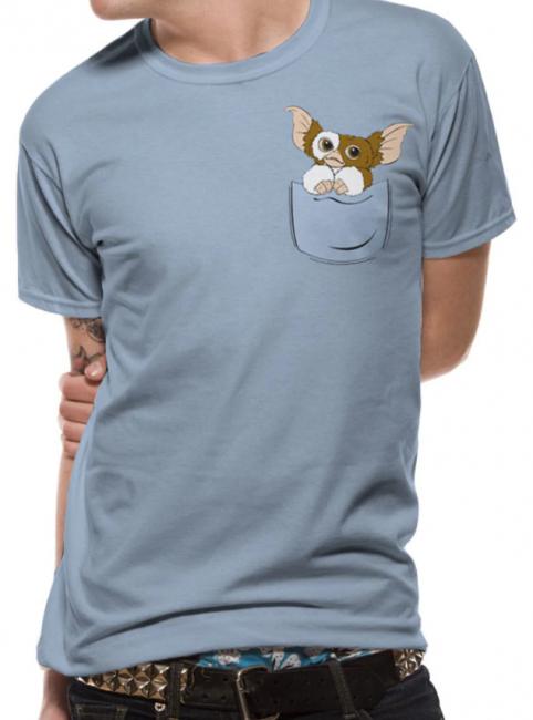 T-PAITA - GREMLINS - GIZMO POCKET  -painatus valitsemaasi paitaan