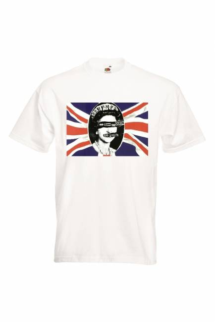 JET T-PAITA VALK. - SEX PISTOLS - GOD SAVE THE QUEEN FLAG (80A427)