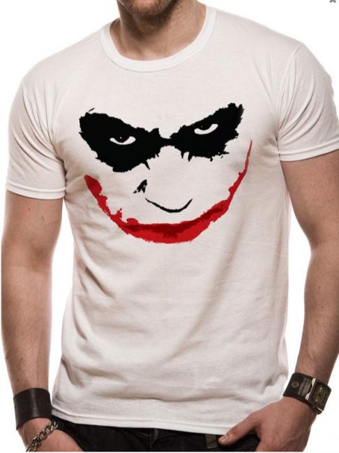 T-PAITA - BATMAN - JOKER SMILE OUTLINE  -painatus valitsemaasi paitaan