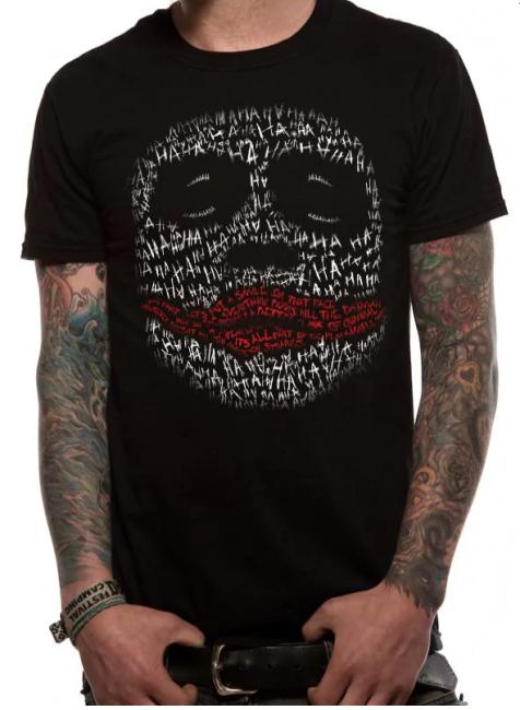 T-PAITA - BATMAN - JOKER FACE WORDS  -painatus valitsemaasi paitaan