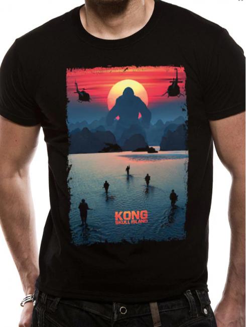 T-PAITA - KONG SKULL ISLAND - POSTER  -painatus valitsemaasi paitaan