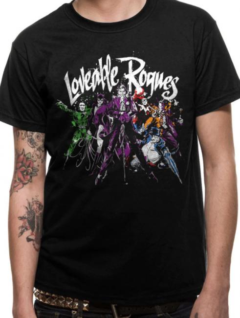 T-PAITA - BATMAN - LOVEABLE ROGUES  -painatus valitsemaasi paitaan
