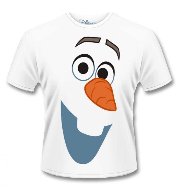 T-PAITA - FROZEN - OLAF FACE  -painatus valitsemaasi paitaan